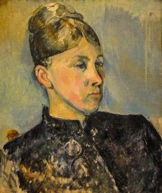 Portrait of Madame Cezanne: 1887 by Paul Cezanne (Philadelphia Museum of Art, Philadelphia, PA) - Impressionism