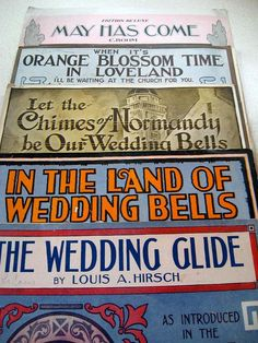 Wedding Theme Sheet Music Vintage Music for Voice and Piano by ShopWithLynne, $6.00 USD