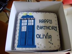 I want a Doctor Who themed birthday cake this year, here's one I found online. What do you think?