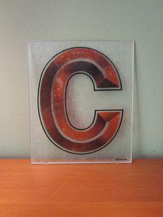 Vintage Sign Letter Flat Letter C