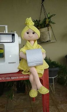 boneca para banheiro em eva - Pesquisa Google