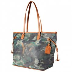 Y Not Mimetico Green Borse Shopping bag in tessuto e pelle Y Not 360d11a1567