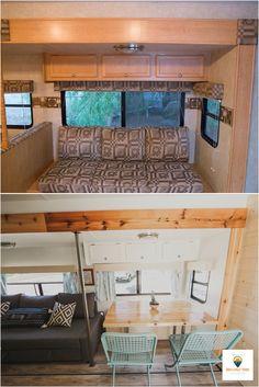 27 Ideas Slide In Camper Remodel Wheels Rv Living, Remodel, Remodeled Campers, Home, Renovations, Camper Living