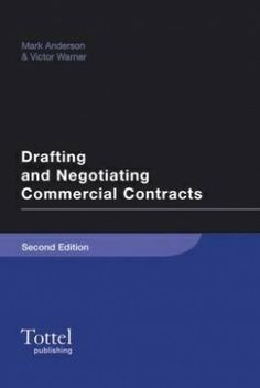 Drafting and Negotiating Commercial Contracts, 3rd edition. Mark Anderson is an English solicitor (attorney) who is Managing Partner of Anderson Law LLP, a law firm based in Oxfordshire, England. See www.andlaw.eu for further details. He also runs a popular blog at www.ipdraughts.wordpress.com
