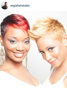 I've had these cuts & color . I miss my pixie sometimes . Cute Hairstyles For Short Hair, Pretty Hairstyles, Curly Hair Styles, Short Sassy Hair, Short Hair Cuts, Pixie Cuts, Short Pixie, Afro, Hair Shows