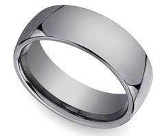 Comfort Fit Men's Wedding Ring in Tungsten