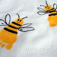 Bumble Bee and Butterfly Hand Towels