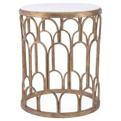 Furniture::Accent Tables::Sculpted Golden Side Table