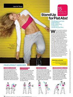 Upright Ab Exercises 15 minute workout