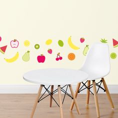 Fruit Salad Fabric Wall Sticker Set - via DTLL.