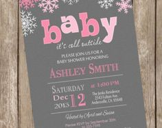 Baby Its Cold Outside Baby Shower Invitation by SugarShebang