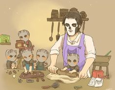 Let's make cookies with Papa! Ghost Papa, Ghost Bc, Funny Ghost, Cute Ghost, Doom Metal Bands, Band Ghost, Ghost And Ghouls, Emo Scene, Film Books