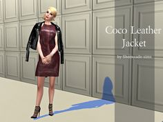 Coco Leather Jacket by Sherazade Sims.