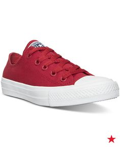 What could be better than classic kicks in his favorite color? Converse boys' Chuck Taylor All Star II Ox casual red sneakers are the latest style for your cool kid.