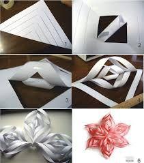 объемные снежинки из бумаги своими руками схемы - Поиск в Google