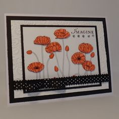 Paper craft and card idea using Stampin' Up! Pleasant Poppies and Loving Thoughts stamp sets. Crafting the Day Away: http://supersuelovestocraft.blogspot.com/