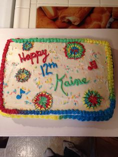 Kanie's 12th Birthday Cake.