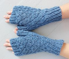 Knitting Pattern for Fingerless Gloves/Knitting Pattern Mittens/Knit Mitts Pattern/Instant Download/PDF/Knitted Patterns for Gloves by TinkerCreekHandknits