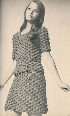 1970's crochet fashion  model: Susan Dey