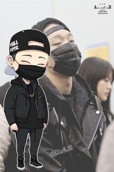 Image about kpop in iKon by ceciliaa_music on We Heart It Drawing Wallpaper, Cartoon Wallpaper, Bobby, Ikon Member, Ikon Kpop, Ikon Wallpaper, Hello My Love, Kim Ji Won, Kpop Drawings