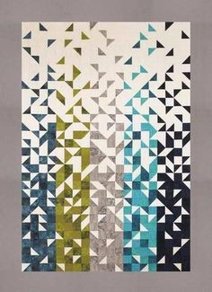 """Shattered"" ~ quilt of HSTs by Thangles, $13 pattern 