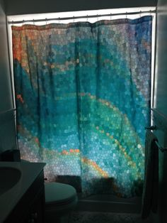 Artistic Shower Curtain Ocean Shower curtain by ArtfullyFeathered