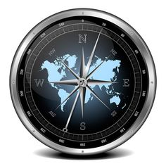 Blue compass 3D image with world map  http://www.kozzi.com/stock-clipart-24817932-blue-compass.html  #Photography #illustration #clipart  | Kozzi Images | Royalty Free Stock Images for just $1