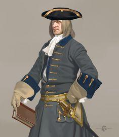 Officer of Swedish artillery, 1700s.