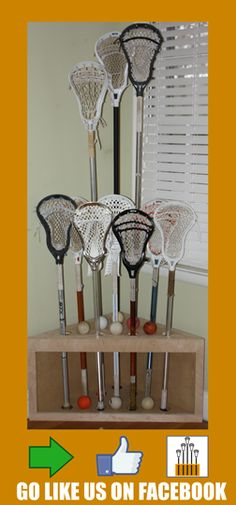 Stick Stand! You spent 1.5k on sticks, spend $70 for a piece of furniture to keep them organized in a piece of furniture. #lacrosse #lax