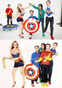 Funny pictures about Big Bang Stars as Superheroes. Oh, and cool pics about Big Bang Stars as Superheroes. Also, Big Bang Stars as Superheroes. Leonard Hofstadter, Big Bang Theory, Carnaval Costume, Just In Case, Just For You, Cinema, Epic Photos, Film Serie, Percy Jackson