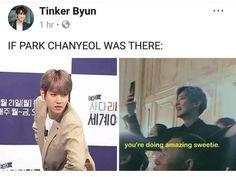 Made for each other indeed chanbaek Baekhyun, Exo Chanbaek, Park Chanyeol, Exo Facts, Exo Couple, Xiuchen, Exo Korean, Exo Memes, Kpop Exo