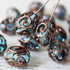 Handmade Glass Beads  Czech Lampwork Beads  Czech Glass