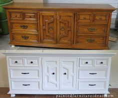Love this Thomasville dresser in white! Before and after pictures