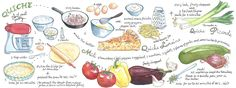 Quiche by Suzanne De Nies - They Draw & Cook