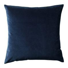 IKEA - SANELA, Tyynynpäällinen, Pehmeää puuvillasamettia, joka korostaa värien syvyyttä.Vetoketjun ansiosta päällinen on helppo irrottaa.