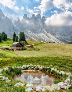 Late summer in the Dolomites, Italy
