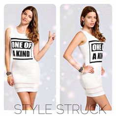 YOU CANNOT BE DUPLICATED! ONE OF A KIND Body Con Dress - NOW! @ www.style-struck.com #fashion #stylestruck