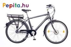 """A Neuzer E-City férfi elektromos kerékpár egy prémium minőségű anyagok felhasználásával készült termék    Jellemzői:  - Kerékméret: 26""""  - Váz: AL6061 Alu nagy teherbírású  - Villa: Merev acél 26""""  - Első fék: Promax V  - Hátsó fék: Promax V  - Hajtómű: Alu/Alloy 170 MM 38T  - Hátsó váltó: Shimano Nexus 3 SPD (3 sebesség)  - Váltókar: Shimano Nexus 3 SPD (3 sebesség)  - Első agy: Bafang 8FUN Agymotor  - Hátsó agy: Shimano Nexus 36H  - Felnik: HLQC-08A 26"""" Duplafalú  - Köpeny / Gumi: Kenda… Bicycle, Bicycle Kick, Bike, Trial Bike, Bicycles"""