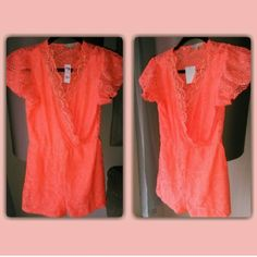 Neon Wrap Romper Really Cute, Lace.....Never Been Worn! Charlotte Russe Other