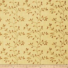 Trend 2334 Maize from @fabricdotcom  This beautiful lightweight fabric features a leaves embroidery throughout. Perfect for draperies, swags, duvet covers, shams, toss pillows, and light upholstery projects.