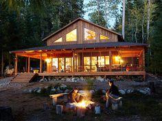 Wrap around Porch Cabin Design Ideas 1-Story House Plans with Wrap around Porches
