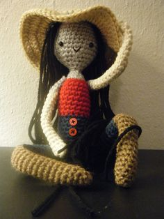 """Marceline, the Vampire Queen Amigurumi aka Marceline Abadeer from Adventure Time. Made by icrazio who says, """"she was a nonstop effort, started this morning and finished about an hour ago……. Crochet Doll Pattern, Crochet Dolls, Crochet Patterns, Kawaii Crochet, Cute Crochet, Amigurumi Doll, Amigurumi Patterns, Adventure Time Crochet, Knitting Projects"""