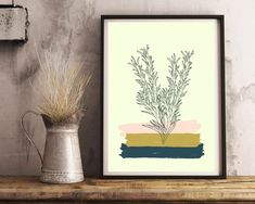 Items similar to color brush green leaves printable art- wall decor- wall art- digital prints- gift for him- home decor- plant prints- herb prints on Etsy Boy Wall Art, Wall Art Decor, Wall Art Prints, Leaf Art, Do It Yourself Home, Cool Walls, Geometric Art, Printable Wall Art, Home Art