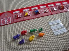 Montessori on Mars: Ordinal Numbers in the Barn Montessori Math, Preschool Math, Math Classroom, Kindergarten Math, Fun Math, Classroom Activities, Teaching Math, Ordinal Numbers, Math Numbers