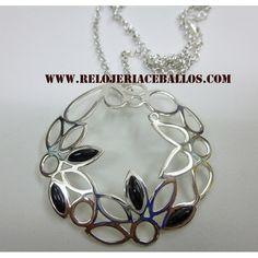 gargantilla de azabache y plata  www.relojeriaceballos.com