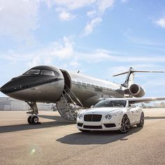 Private Jet & Bentley All set to Takeoff