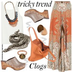 Tricky Trend: Cool Clogs by paculi on Polyvore featuring Chloé, Etro, Cordani, Dolce&Gabbana, Burberry, Issey Miyake, Monica Vinader, rag & bone and coolclogs