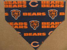 Chicago Bears Dog Bandana by SCCDogApparel on Etsy, $10.00