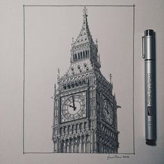 Accurate Miniature Architectural Illustrations Lorenzo Conas is an architect and a light designer. Architecture Panel, Cultural Architecture, Concept Architecture, Architecture Design, Architecture Drawing Sketchbooks, Building Drawing, Building Painting, Ink Pen Drawings, A Level Art