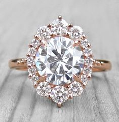 Vintage engagement ring set Oval cut Moissanite engagement ring rose gold diamond wedding Jewelry Anniversary Valentine's Day Gift for women - Fine Jewelry Ideas Engagement Solitaire, Perfect Engagement Ring, Vintage Engagement Rings, Engagement Bands, Custom Wedding Rings, Wedding Jewelry, Wedding Earrings, Wedding Bands, Diamond Bands